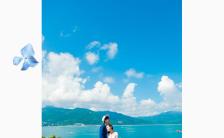 大海主题蓝色高雅婚礼请柬模板简约婚礼邀请函模板H5模板缩略图
