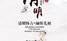 水墨古风清明节文化踏青宣传缩略图