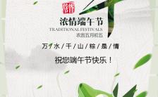浓情端午节企业祝福贺卡H5模板缩略图