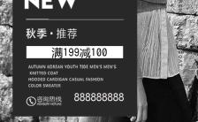 黑白简约高端秋季女装新款促销推广高端女装预售会订货会秋装新品上市缩略图