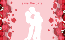 浪漫唯美清新大气玫瑰花元素婚礼邀请函缩略图