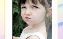 粉色可爱儿童相册模板缩略图