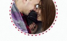 简约圆形情侣相册分享手机海报缩略图