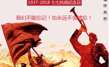 勿忘国耻七七抗战纪念日手机海报缩略图