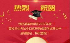 高考 毕业季 毕业 喜报 公告 大学 贺卡缩略图