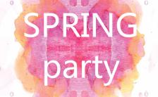 春季派对设计感宣传手机海报缩略图