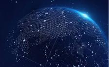 蓝色高端科技互联网生态峰会手机海报缩略图