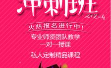 暑期冲刺班教育培训班招生宣传手机海报缩略图