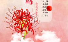 手绘水彩二十四气节白鹭手机海报缩略图