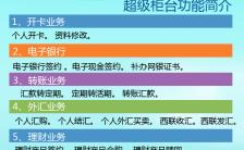 清新文艺银行超级柜台业务宣传海报缩略图