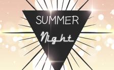 英文夏季聚会活动邀请宣传手机海报缩略图